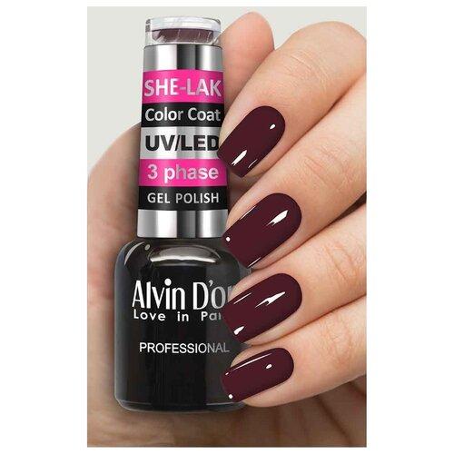 Фото - Гель-лак для ногтей Alvin D'or She-Lak Color Coat, 8 мл, оттенок 3538 гель лак для ногтей cosmoprofi color coat 15 мл оттенок 027