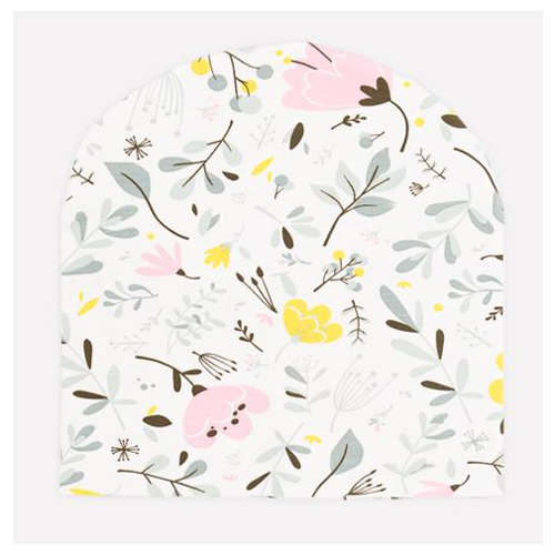 Купить Шапка crockid размер 54-56, белая лилия/нежные цветы к285, Головные уборы