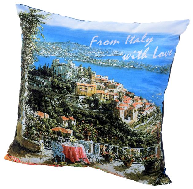 Подушка декоративная Gift'n'Home Романтическая Италия 35х35 см (PLW-35 Italy) голубой / зеленый