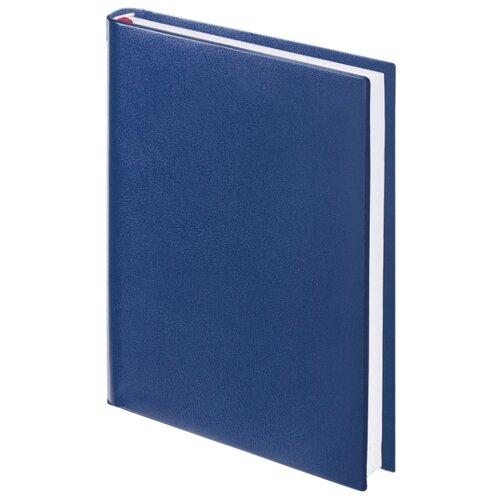 Ежедневник BRAUBERG Select недатированный, искусственная кожа, А5, 160 листов, темно-синий ежедневник brauberg cayman недатированный искусственная кожа а5 160 листов черный темно коричневый