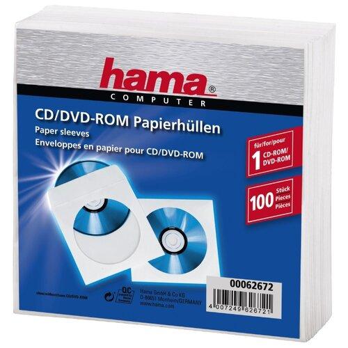 Конверт HAMA 00062672, 100 шт., белый