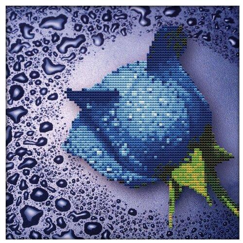 Фото - Color Kit Набор алмазной вышивки Синяя роза (80210) 25х25 см color kit набор алмазной вышивки с часовым механизмом две стихии 7303013 30х30 см