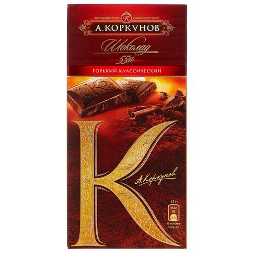 Шоколад Коркунов горький классический, 90 г цена 2017