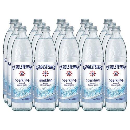 Вода минеральная Gerolsteiner Sprudel газированная, стекло, 15 шт. по 0.75 лВода<br>