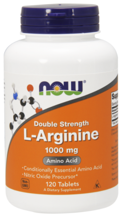 Now Foods L-Arginine 1000 mg (120 таб.) (02550)