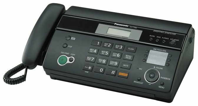 Факс Panasonic KX-FT988RU-B, рулон, A4