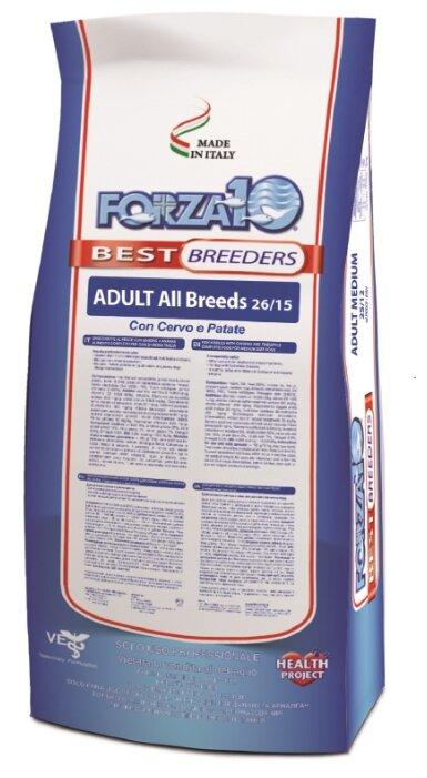 Корм для собак Forza10 Best Breeders 26/15 для здоровья кожи и шерсти, оленина с картофелем 20 кг