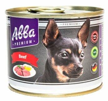 Корм для собак Авва (0.2 кг) 1 шт. Консервы Premium Adult Beef