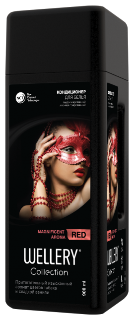 Купить Wellery Парфюмированный кондиционер для белья Collection Red с ароматом цветов табака и сладкой ванили, 0.9 л по низкой цене с доставкой из Яндекс.Маркета