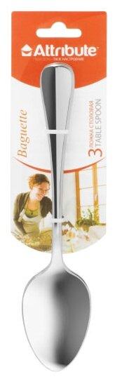 Attribute Набор столовых ложек Baguette 3 предмета серебристый