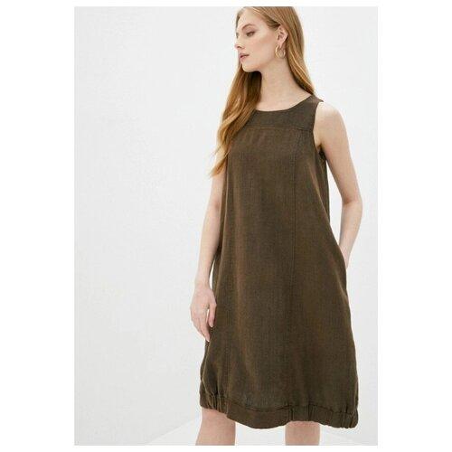 платье noisy may 27006197 женское цвет мультиколор mandarin red полоски р р 44 s Льняное женское платье Gabriela 5361-6 р.44-46