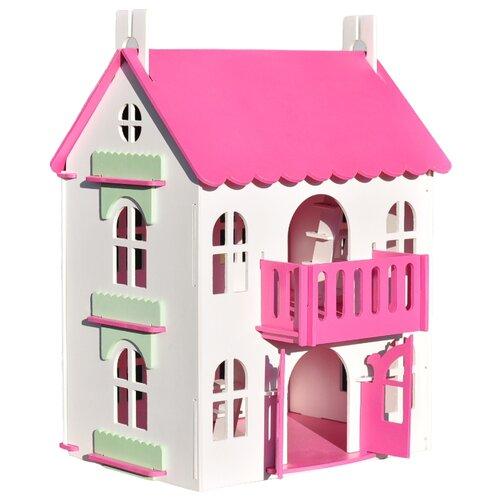 Купить WoodLines кукольный домик Арина , КДА-002, розовый, Кукольные домики