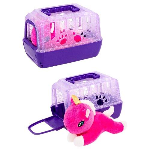 Лошадка пони в фиолетовом домике-переноске