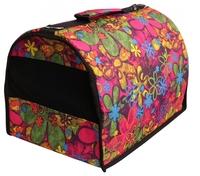Переноска-сумка для собак Lion Standart S 40х25х25 см розовый в горох
