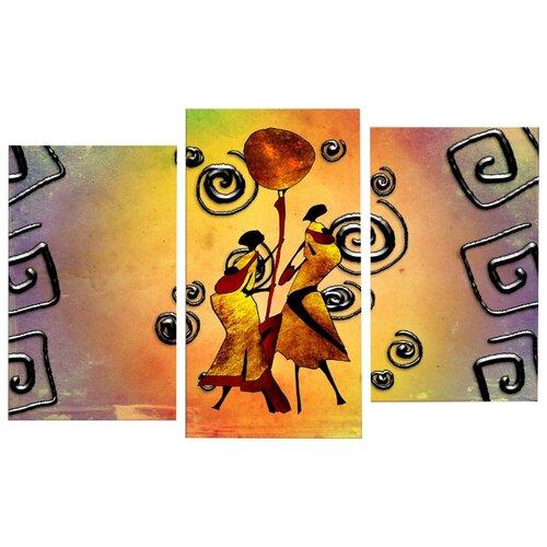 Модульная картина Картиномания Танец с бубном 90х140 смКартины, постеры, гобелены, панно<br>