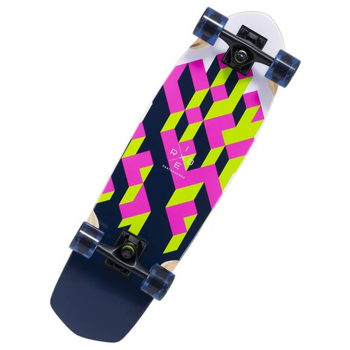 "Лонгборд Ridex Blocks 28.5"" синий/розовый/зеленый"