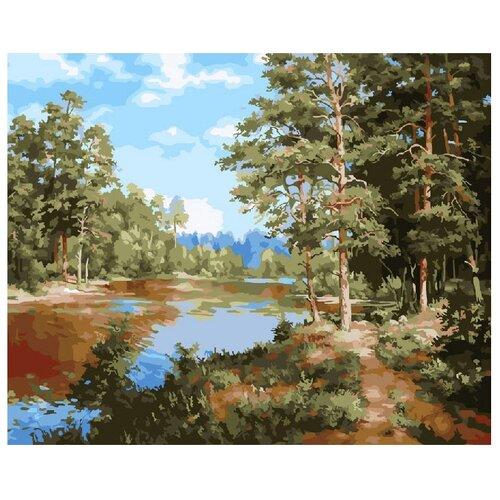 Купить ВанГогВоМне Картина по номерам Сосновый лес , 40х50 см (ZX 20821), Картины по номерам и контурам
