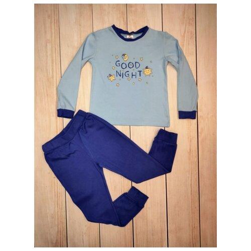 Купить Пижама Mivilini размер 92, синий/голубой, Домашняя одежда