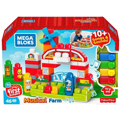 Конструктор Mega Bloks First Builders GCT50 Музыкальная ферма