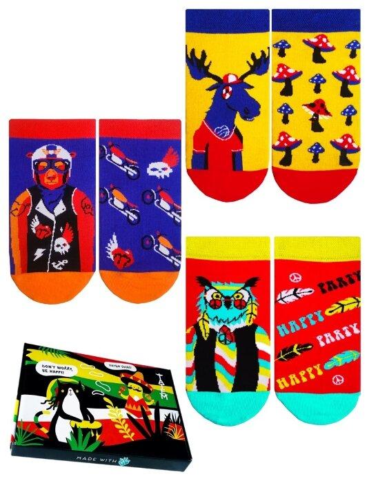 Носки Zoo Heroes, набор из 3 пар Tatem socks