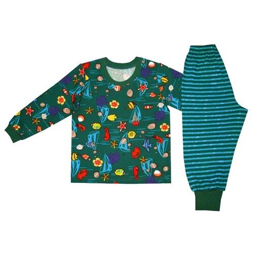 Пижама ПАНДА дети размер 122, зеленыйДомашняя одежда<br>