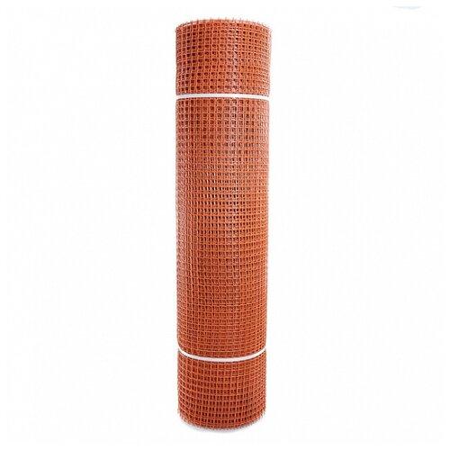 Садовая сетка квадратная 15х15 (1,0х20) ПРОФИ оранжевый сетка пластиковая садовая квадрат желтая ср 15 1 20 15х15 мм 1х20 м