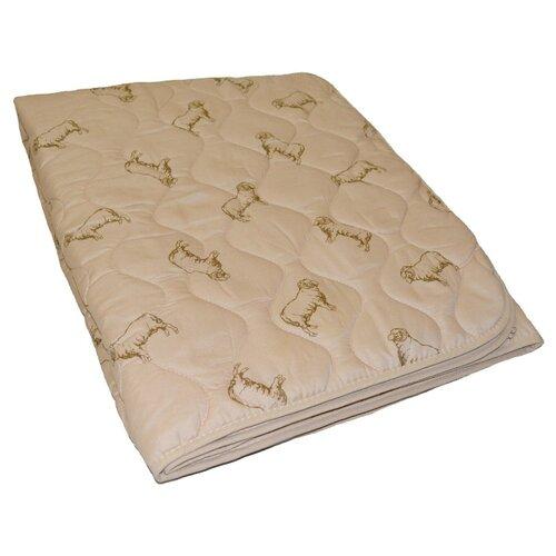 Одеяло Легкие сны ПОЛЛИ шерсть овечья/поплин, полуторное 140*205 см, легкое