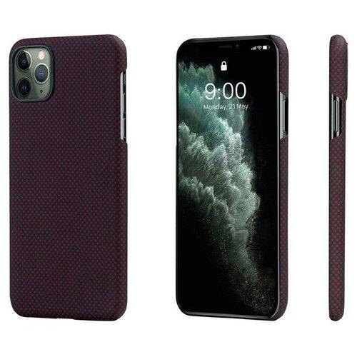 Чехол PITAKA MagEZ Case для iPhone 11 Pro MAX чёрно/красный (клетка)