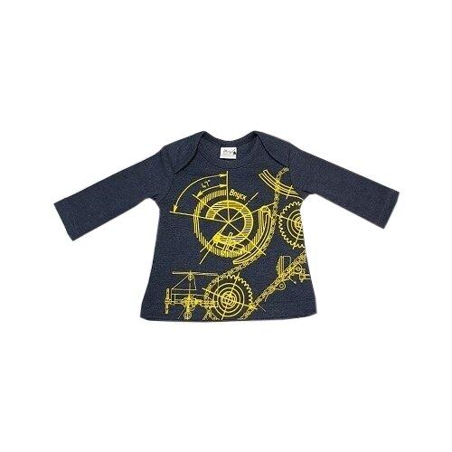 Купить Лонгслив ЁМАЁ размер 74, синий, Футболки и рубашки
