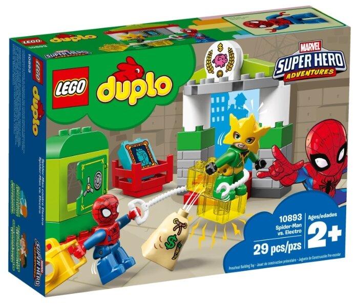 Конструктор LEGO Duplo 10893 Супергерои: Человек-паук против Электро