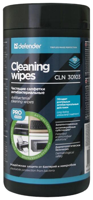 Defender Cleaning Wipes CLN 30103 влажные салфетки 110 шт. для оргтехники