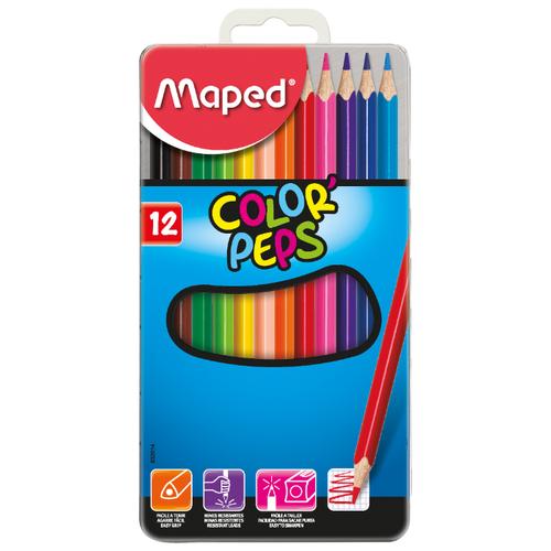 Купить Maped Цветные карандаши Color Peps 12 цветов, металлическая коробка (832014)