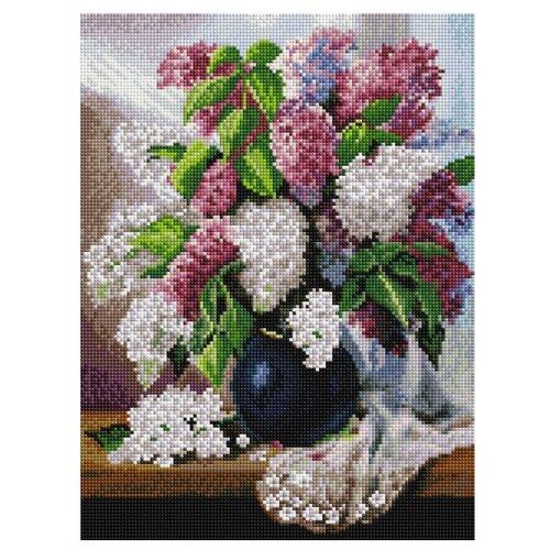 Купить Белоснежка Набор алмазной вышивки Пушистая сирень (265-ST-S) 30x40 см, Алмазная вышивка