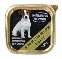 Корм для собак Натуральная Формула Консервы для собак Бычьи семенники в желе (0.1 кг) 1 шт.