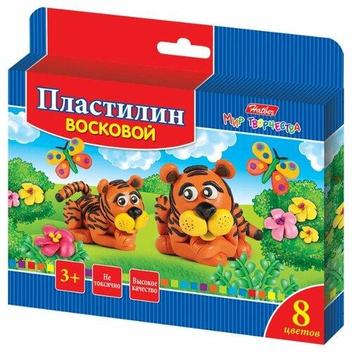 Купить Пластилин Hatber Забавные зверята 8 цветов (kpv_08260), Пластилин и масса для лепки