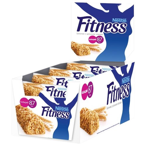 Злаковый батончик Nestle Fitness с цельными злаками, 24 шт батончик злаковый fortuche яблоко с корицей 30 шт по 25 г