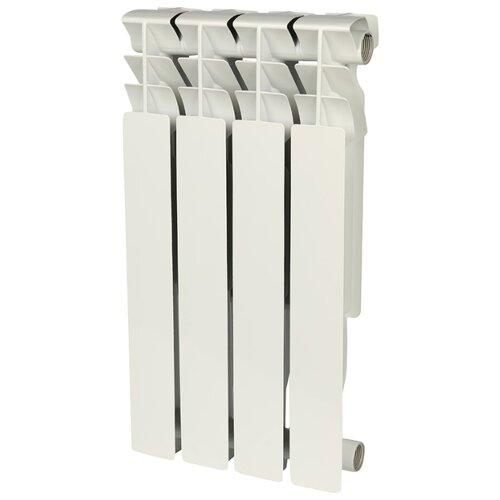 Радиатор секционный алюминий ROMMER Al Plus 500 x4 подключение универсальное боковое RAL 9016 биметаллический радиатор rifar рифар b 500 нп 10 сек лев кол во секций 10 мощность вт 2040 подключение левое