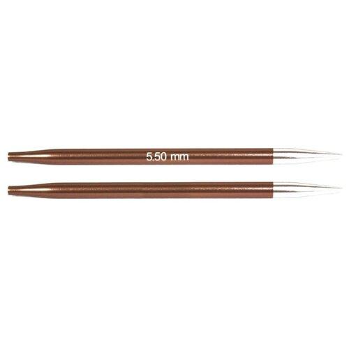 Купить Спицы Knit Pro съемные Zing 47526, диаметр 5.5 мм, длина 10 см, sienna
