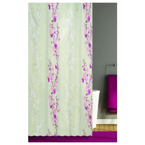 Штора для ванной Bath Plus Blossom Falling 180х200 бежевый/розовый