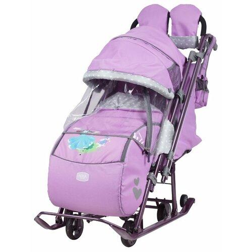 цена на Санки-коляска Nika Ника детям 7-4 (НД 7-4) лиловый