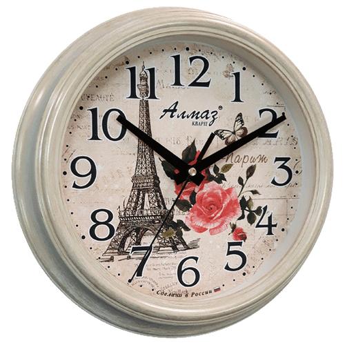 Часы настенные кварцевые Алмаз C23 бежевыйЧасы настенные<br>