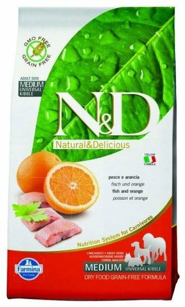 Корм для собак Farmina N&D рыба С апельсином 800г (для средних пород)