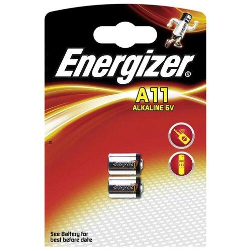 Батарейка Energizer A11 2 шт блистер батарейка energizer cr2032 2 шт блистер
