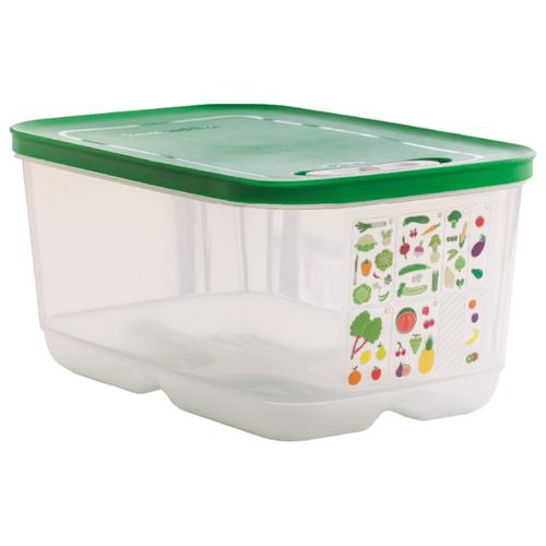 """Tupperware Контейнер """"Умный холодильник"""" 4400 мл прозрачный/зеленый"""