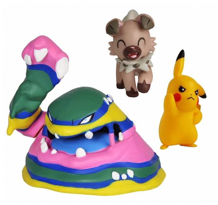 Фигурки РОСМЭН Pokemon Пикачу, Рокраф, Алола 36690