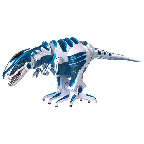 цена на Интерактивная игрушка робот WowWee Roboraptor белый/голубой