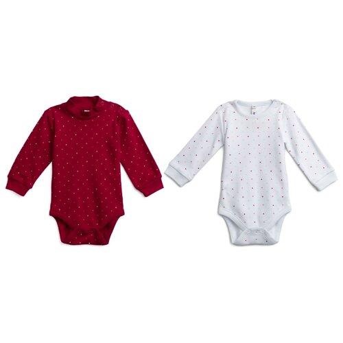 Купить Боди playToday размер 68, белый/темно-красный