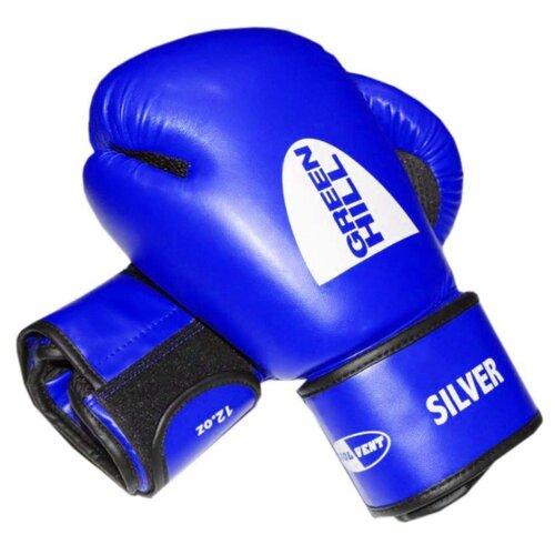 Боксерские перчатки Green hill Silver (BGS-2039) синий 12 oz