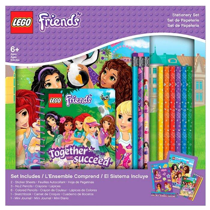 Канцелярский набор LEGO Friends (51607), 13 пр.