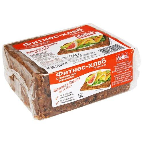 Delba Хлеб Фитнес с семенами льна, ржаная мука, цельнозерновой, в нарезке 500 г